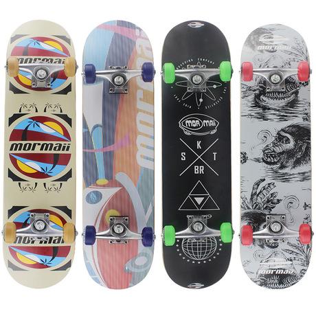 中源滑板 双翘四轮枫木专业滑板 儿童成人新手代步滑板车厂家直销