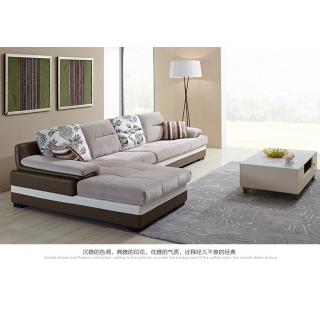 全友家居 时尚客厅家具沙发皮布艺沙发可拆洗大小户型沙发102079 3+1+转 反向沙发