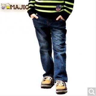玛吉卡秋季新品儿童长裤男童牛仔裤中大童时尚休闲裤子