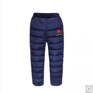 玛吉卡男童羽绒裤外穿加厚 保暖羽绒长裤子韩版