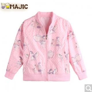 玛吉卡 儿童卡通拉链开衫外套夹克衫