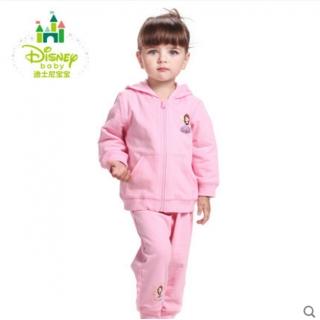 Disney/迪士尼宝宝卫衣套装保暖男女童运动套装连帽外出服