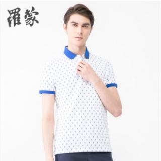 罗蒙t恤男短袖POLO衫棉印花商务休闲 夏季新款男装潮