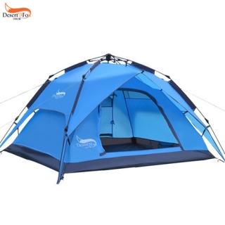 沙漠之狐户外帐篷3-4人自动帐篷双人防暴雨多人野营露营帐篷厂家